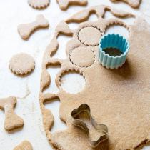Banana peanut butter dog treat on wildwildwhisk.com