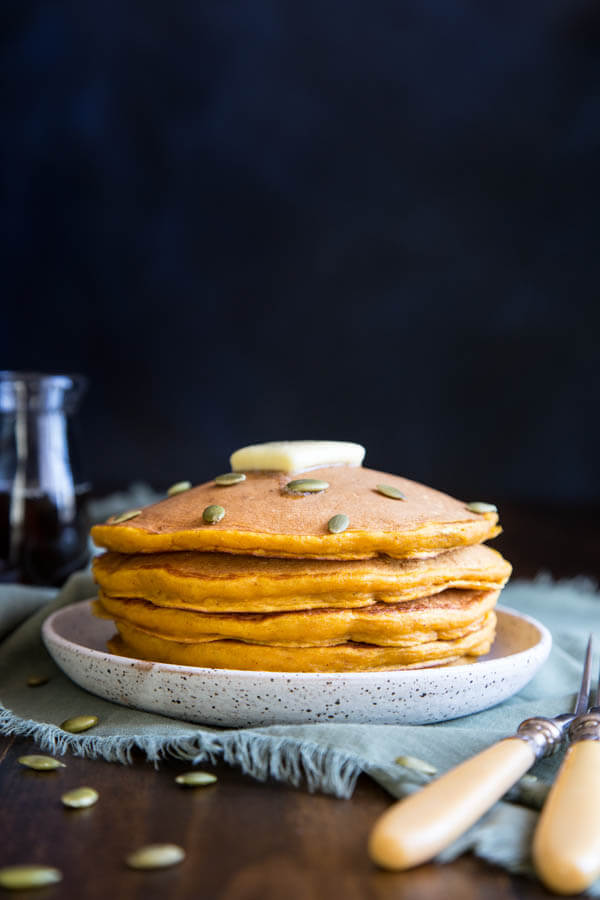 Buttermilk Pumpkin Pancakes | wildwildwhisk.com