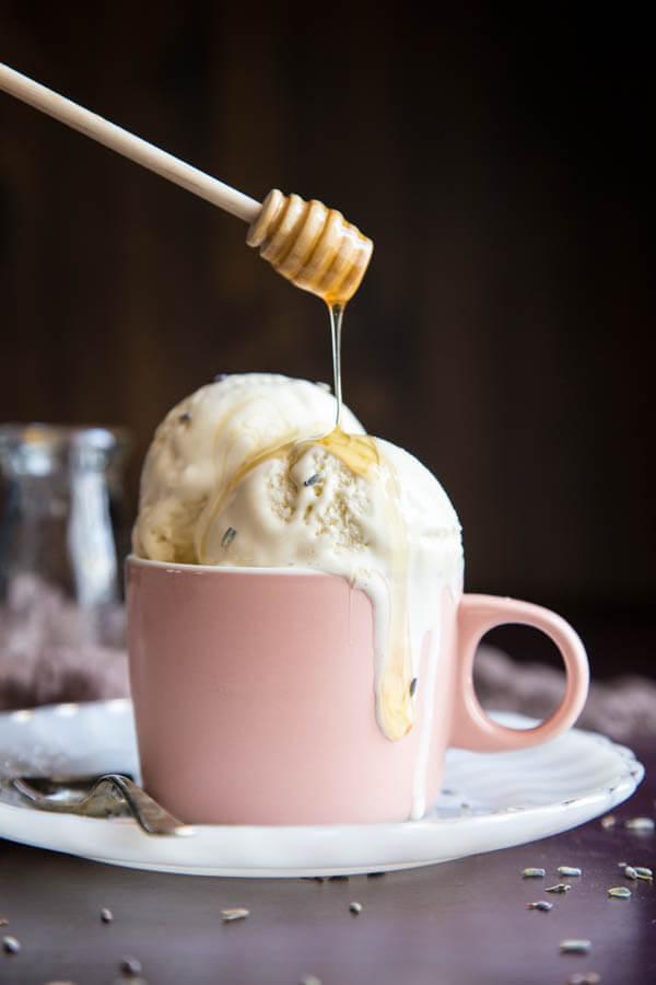 Honey Lavender Ice Cream   wildwildwhisk.com