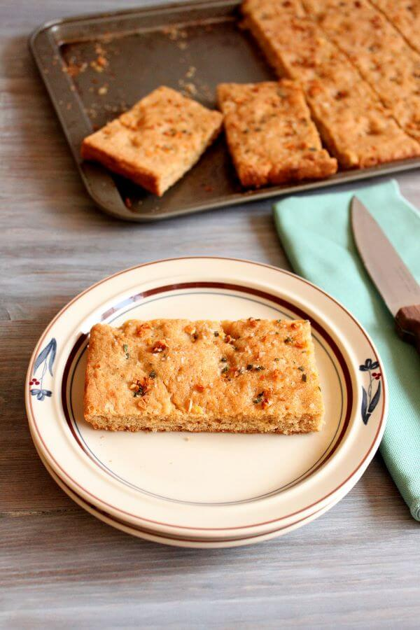 Whole Wheat Garlic Rosemary Focaccia   wildwildwhisk.com