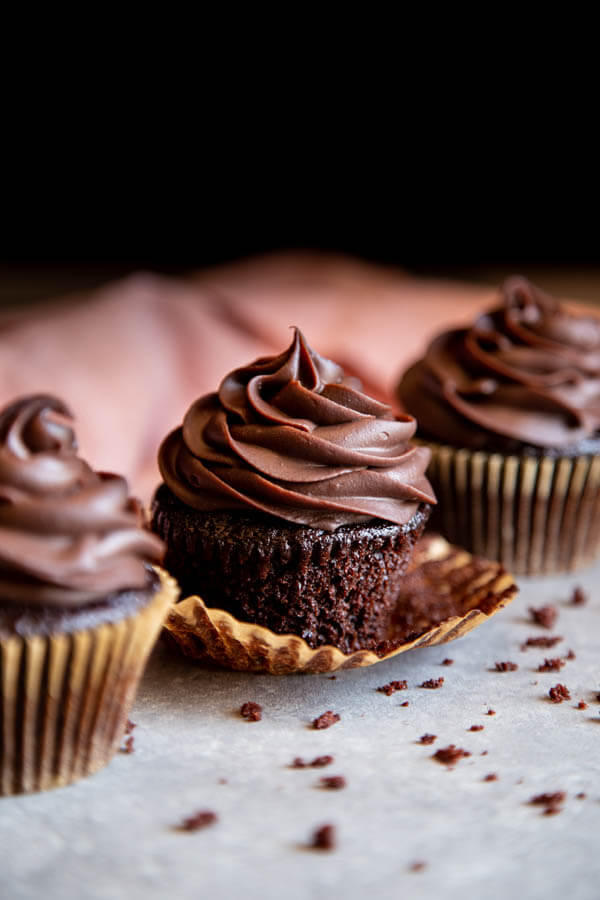 Double Chocolate Cupcakes | wildwildwhisk.com