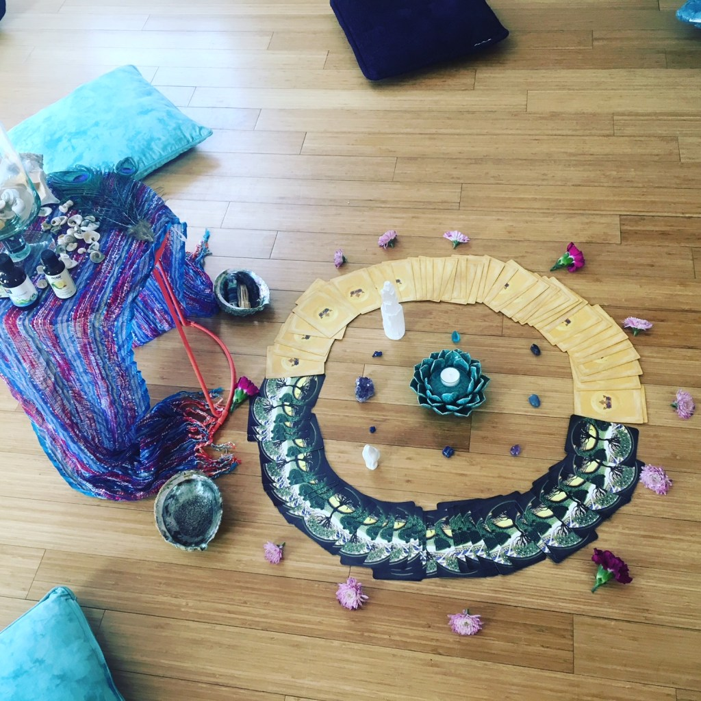 Altar from our Aquarius New Moon 2018