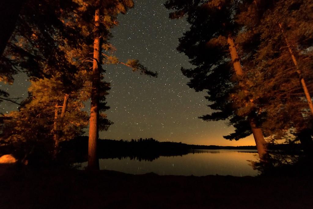 algonquin canoe - night shot