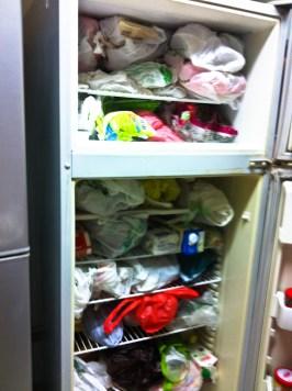 a stuffed fridge