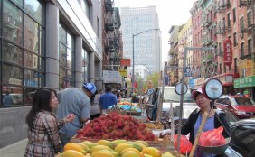 Street vendors in Chinatown. Test your haggling skills here!