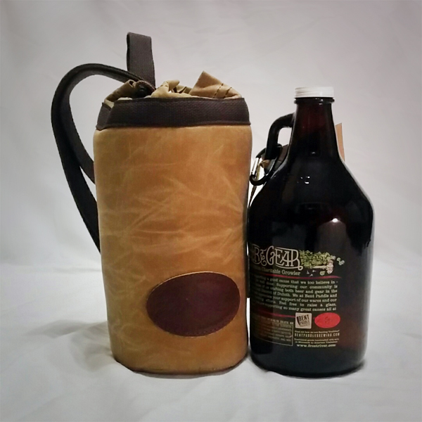 Frost River Growler sling and Bent Paddle Growler & Fill