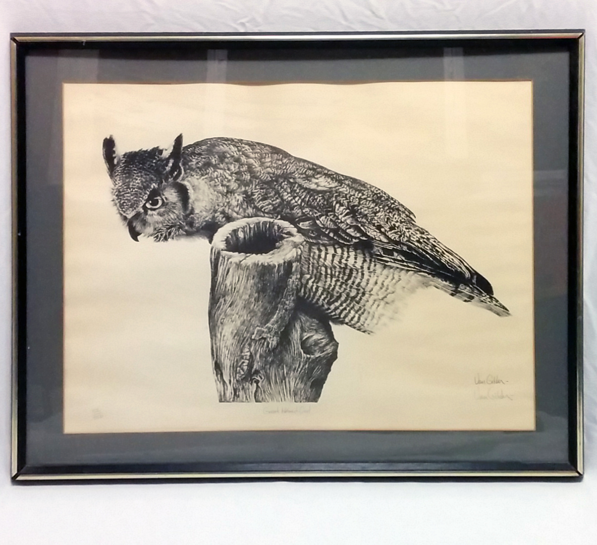 """Great Horned Owl"" by Ron Van Gilder"