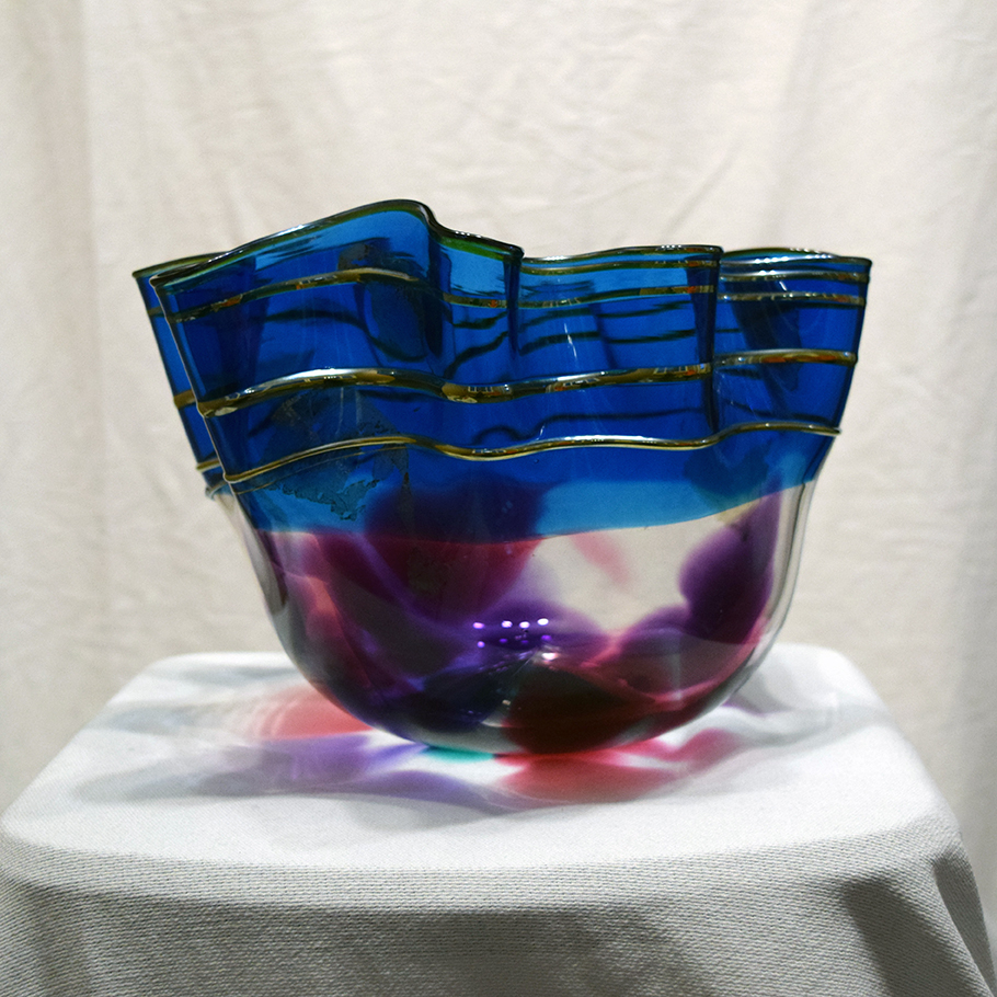 Nautical Clam Form Glass Bowl by Scott Curry