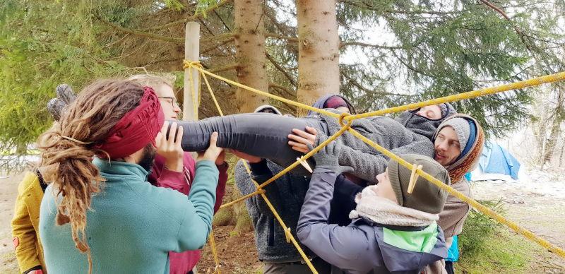 Teamtraining Spinnennetz