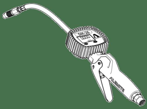 Alemite 3671-B Electronic Oil Meter: Flexible: Manual Non