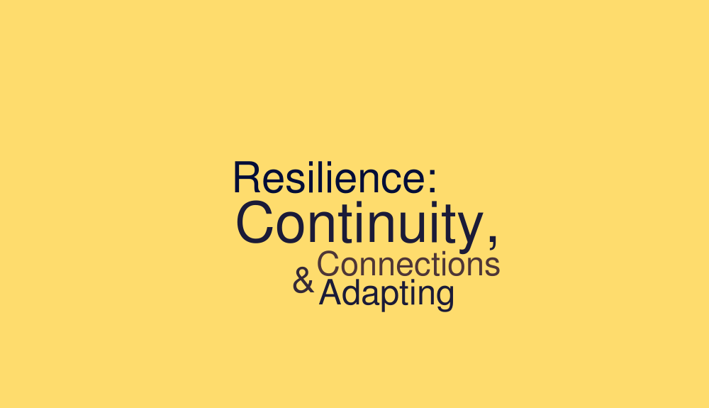 Resilience: Continuity, Connections, & Adapting