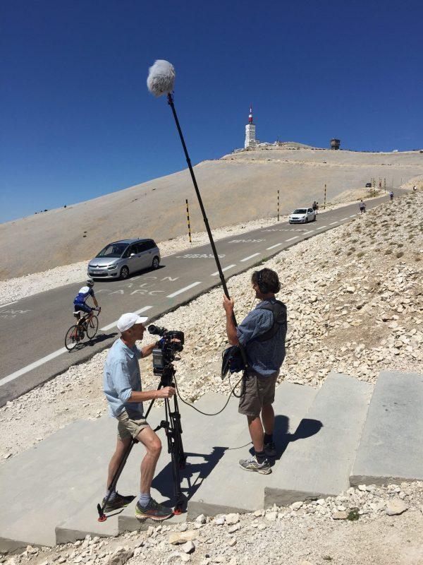 Met crew op de Mont Ventoux