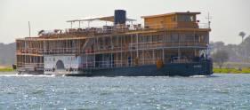 The Sudan sailin by in Luxor