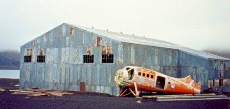 Old hangar on Deception Island