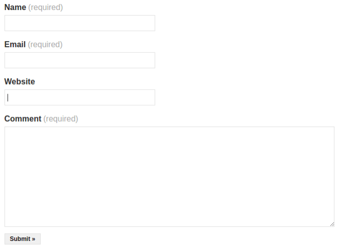 Jetpack Contact Form форма обратной связи WordPress