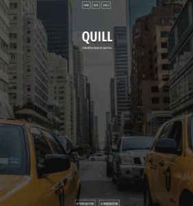 Бесплатный шаблон лендинг пейдж quill