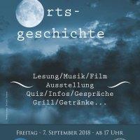 Plakat: Nacht der Ortsgeschichte 2018