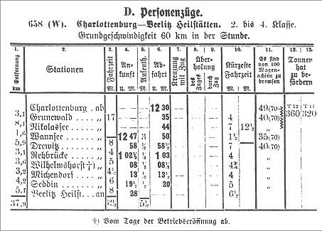 Fahrplan 1914