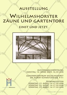 Plakat zur Ausstellung Zäune und Gartentore