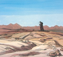 Moses in the desert