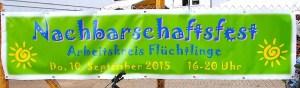 Nachbarschaftsfest im Flüchtlingsdorf Stuttgart Heumaden 10.9.2015