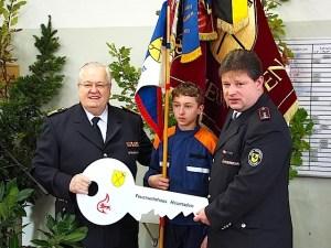 Freiwillige Feuerwehr Stuttgart Heumaden Einweihung des erweiterten Feuerwehrhauses Bockelstraße 3 am 23.10.2015
