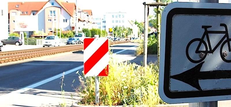 Radstreifen Stuttgart Hedelfinger Strasse