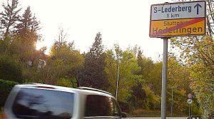 Ortsausgangsschild Stuttgart Hedelfingen Heumadener Straße