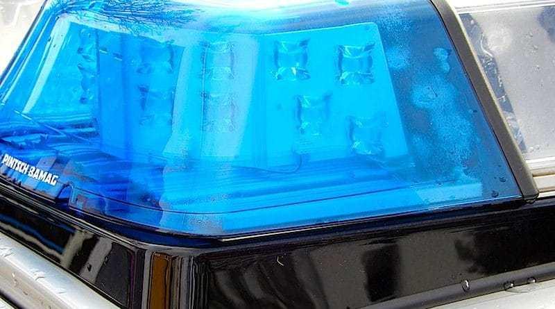 Blaulicht auf dem Dach eines Polizeifahrzeugs