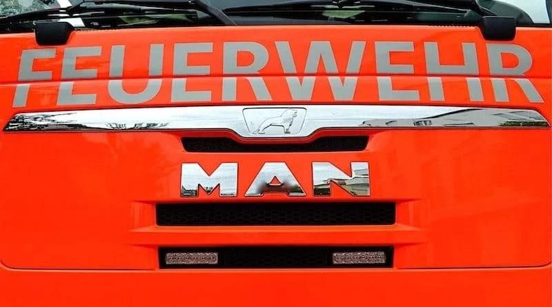 Front eines MAN Feuerwehrfahrzeugs