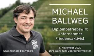 Anzeige Michael Ballweg zur OB-Wahl