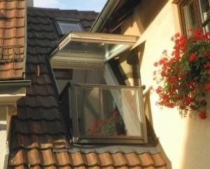 Individuell gestaltete Dachgaube