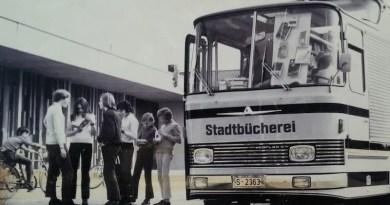 Bücherbus Moritz der Stadtbücherei Stuttgart im Jahr 1971