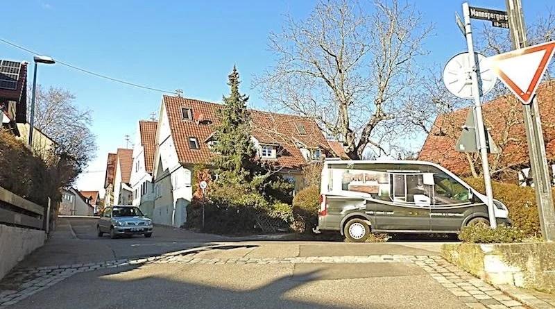 Ecke Schwende-/Mannspergerstraße in Heumaden