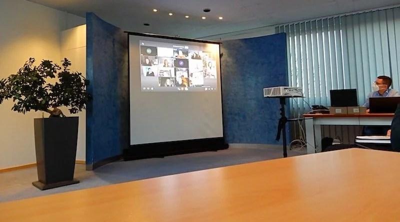 Videokonferenz im Trauraum Bezirksrathaus Sillenbuch