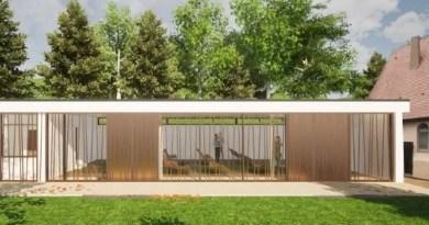 Entwurfsskitte Fasade Feierhalle Wangen März 2021