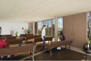 Entwirfsskitte Feierhalle Wangen innen März 2021