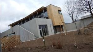 Neues Jugendhaus in Wangen von Flatow-Halle aus gesehen