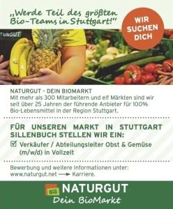 Stellenanzeige Naturgut Verkäufer