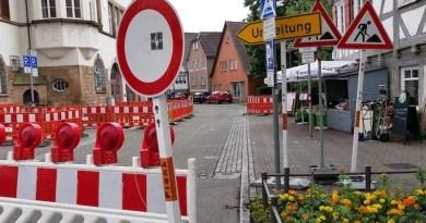 EnBW-Baustelle Hedelfingen Juni 2021