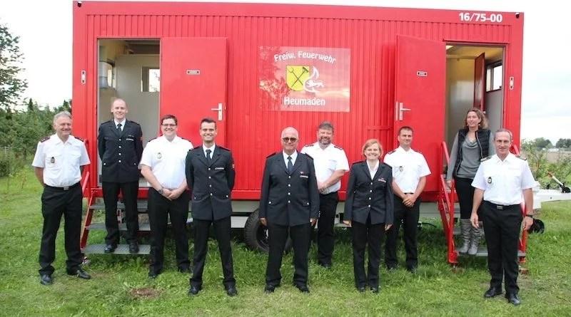 Geehrte und beförderte Heumadener Feuerwehrleute August 2021