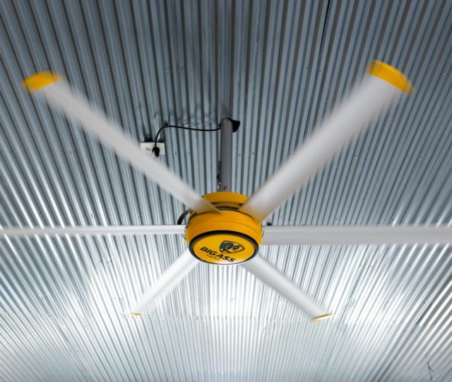 If You Arent Familiar With The Big Ass Fan Brand They Make Crazy Efficient And Stunning Looking Equipment If You Watched The Shop Build Youll Remember