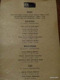 Flatiron Steak (Soho) - Drinks Menu