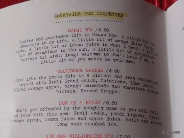 Joe's Southern Kitchen - Cocktails for 'Coquettes'