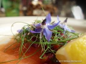 The Pig - An Abundance of flower garnish