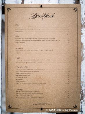 Food menu - Pig, Cow, Chicken or Egg?