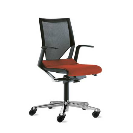 swivel chair small steel online shopping office modus basic conference and visitor minimal materials used maximum transparency perfect adjustment