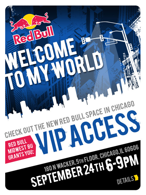 Red Bull Print Invitation Wilkinson Brothers Graphic