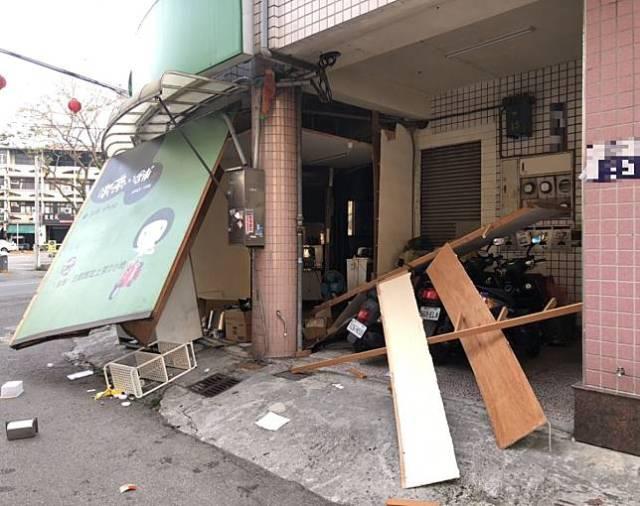 台中飲料店瓦斯氣爆 兩名等公車女學生受傷