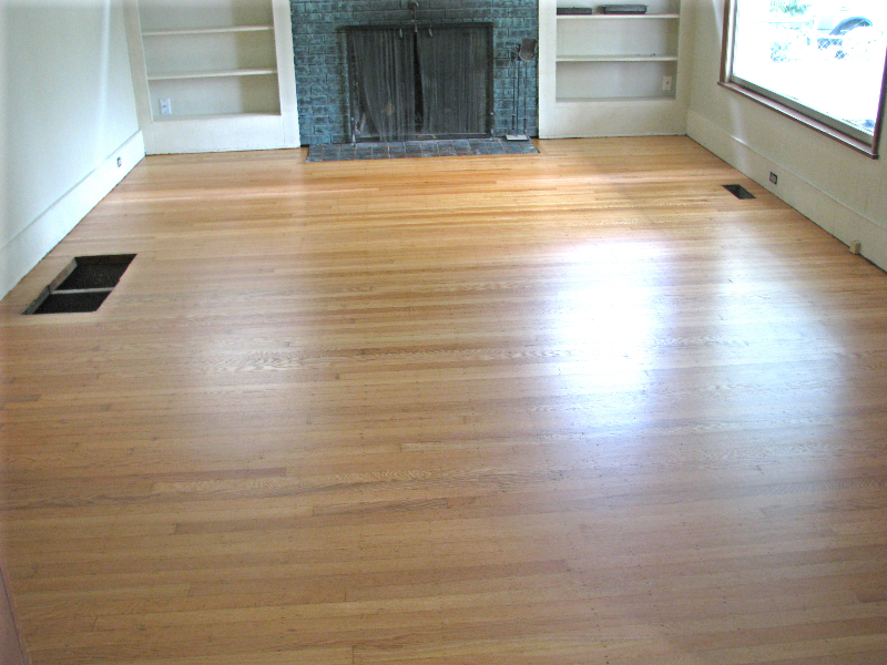 Portland Oregon white oak top nail hardwood floor  after